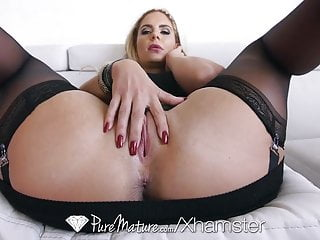 Mature pure Puremature - sexy phoenix marie in black lingerie is fucked