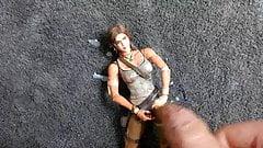 Cum tribute for Lara Croft