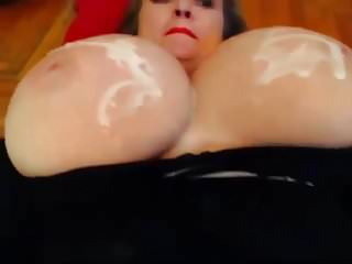 Cum covered tits porntube Massive tits cum covered 3