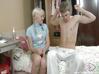 Teen begs Blonde russian teen begs for anal