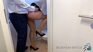 office restroom - boss impregnates me, business-bitch