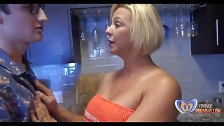 Staying alone and fucking milf on vacation