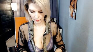Slim woman shows her naked body and her hole
