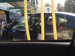 Car wash breast Uppie at car wash