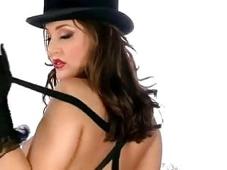 Very sexy lingerie Very sexy cabaret girl in boots masturbates