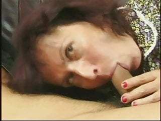 Mad cum mouth Young cock drives hairy granny mad for cum
