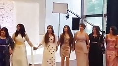 Beautiful dance of beautiful Kurdish women in Kurdish dress