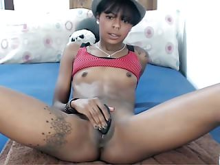 Skinny black tits Tiny tits skinny black teen