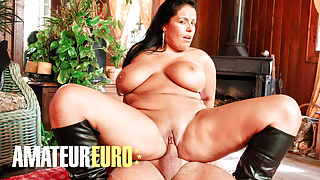 AMATEUREURO - Thick French Babe Loves Riding Hard Cock