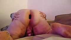 Fat Sissy Pig Showing Fat Ass And Small Clit