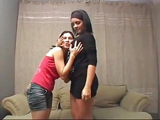 Lesbians mature and young - Deep kissing between mature and young lesbians