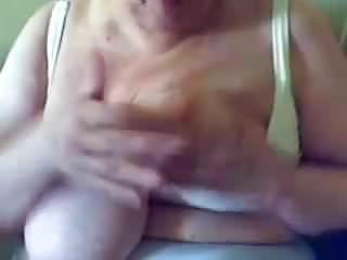 Mature big tits suck Naughty sassy sucks and drools on her big tits