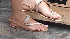 Candid Sweet Feet and Toes in Sandals No Face
