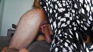 Mouth Dildo His Ass