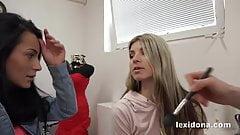 Lexidona - Hot babe Lexi Dona and Gina Gerson suck cock