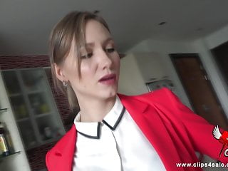 Bare naked sexy woman - Bared and embarrassed business woman