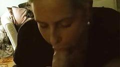 18 yo Dutch blonde student sucks 36 yo's cock