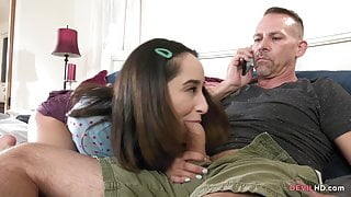Isabella what are you doing? I'm your stepdad!