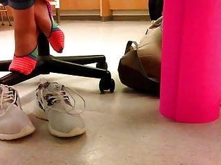 Nude gym class galleries Teen school girl takes her shoes off after gym class