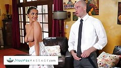 Nuru Massage неверная жена помогает мужу получить повышение