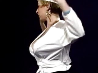 Huge boob strip tease 1999 - vintage huge bouncy boobs strip dance
