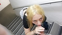 erotic Public Staircase Blowjob - New Zealand amazing orgasm
