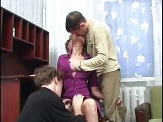 Drunk mature stud woman young Older woman sucks and fucks two young studs