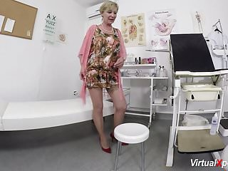 Hairy mom masturbating Hairy mom waiting for the doctor