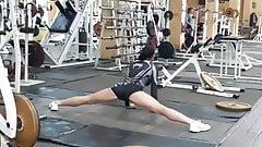 Sexy Ukrainian MMA Fighter Elena Ovchynnikova Gym Stretching