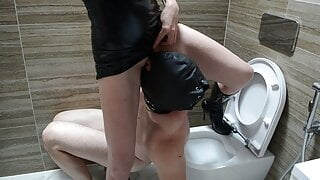 My Human Toilet for Pissing and Spitting! Short version