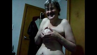 Nude Granny Playing with her Tits