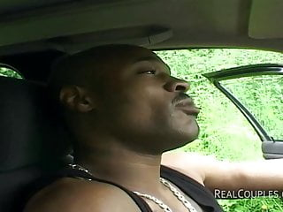 Interracial sex in cars - Interracial couple anal sex in car