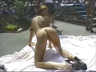 Naked in high heels - Naked party babes