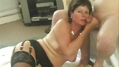 Amateur Wife in Stockings Blowjob