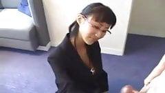 Japanese Mum Makes Him Cum !