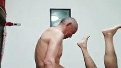 Chinese grandpa fucking another grandpa
