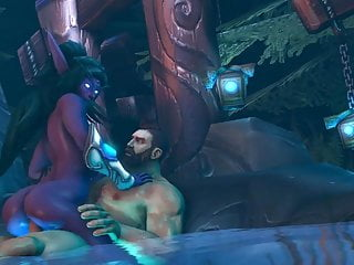Elf sex hentai - Night elf riding in a pool