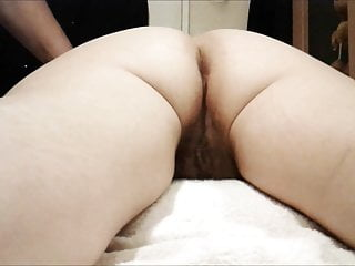 Shaved massage Shaving and fingering my ass before masturbating my pussy