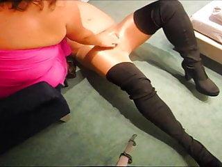 20cm dick Sjoejob extrem - 20cm hohe high heels wichsen transenschwanz