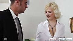 Big tits Siri bangs guy in the office hard