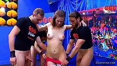 Luisa slut gets gangbang with cums and bukkakes