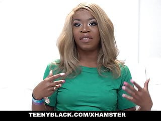 Girl deepthroats dic Teenyblack - small black girl gets fucked rough by white dic