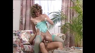 Two gorgeous women in stockings and high heels get fucked