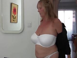 Grandmas sagging breast pics Grandma with big breasts rips open her pantyhose
