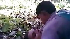 Indian Girl with her Bfs threesome in Jungle