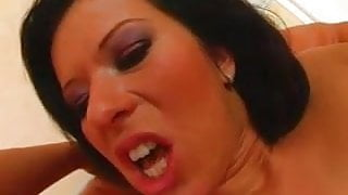 Sperm Swap Cum freak big tit bitches chow down on his milk
