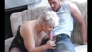 SEXY STEPMOM n88 blonde bbw mature with a young man