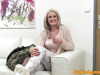 Hot shemale models - Fake agent hot blonde model loves cock over the desk