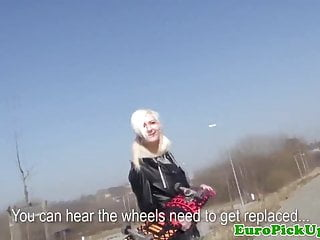 Ice skaters in the nude - Pierced skater euro chick pounded outdoors