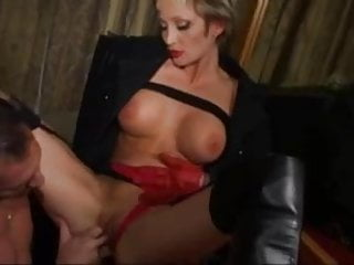 Hardcore fucking in butt - Amateur milf in leather boots butt fucking